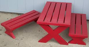 red painted picnic table how to painted picnic table u2013 home
