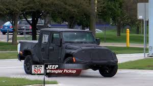 jeep truck spy photos eye spy jeep wrangler pickup youtube