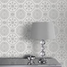 Tile Wallpaper Arthouse Brasillia Tile Pattern Wallpaper Modern Geometric
