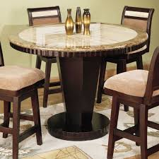 small tall round kitchen table traditional style space with corallo marble round counter height