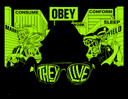glow in the dark poster they live glow in the dark poster pizza party printing
