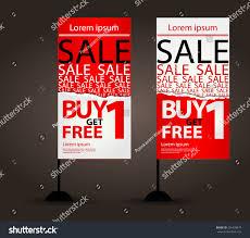 Flag Displays Jflag Display Vector Template Sale Promotion Stock Vector