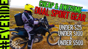 motocross gear for cheap best budget dual sport gear for under 25 100 and 500