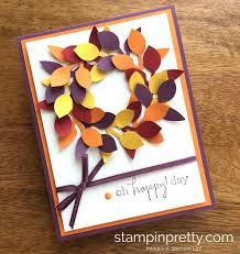 thanksgiving 2014 greeting cards handmade birthday card featuring a wreath created with lots of