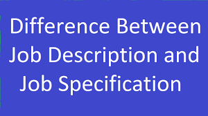 Description 6 Difference Between Job Description And Job Specification Youtube