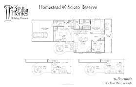 the savannah floor plans 3 pillar homes