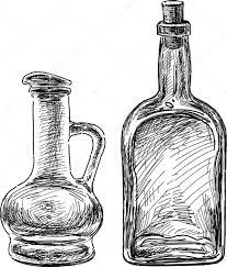 glass bottles sketch u2014 stock vector samakarov mail ru 94860248