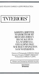 Interiors Woody Allen Interiors 1978 Imdb