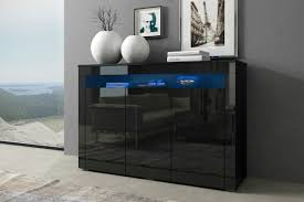 black gloss doors sideboard modern cabinet cupboard buffet unit