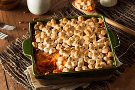 Yam Thanksgiving Recipes Brown Sugar Glazed Sweet Potatoes With Marshmallows Recipe