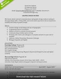 resume for graphic designer sample how to write a perfect internship resume examples included internship resume no experience