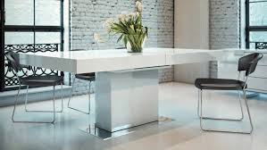Expandable Dining Room Tables by Broadway Extendable Wood And Steel Dining Table Zuri Furniture