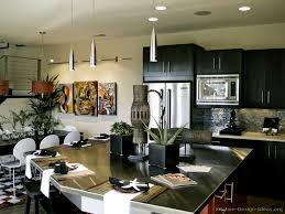 Kitchen Colors With Black Cabinets Pictures Of Kitchens Modern Black Kitchen Cabinets