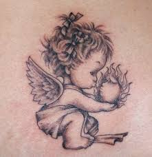 55 baby angel tattoos u0026 designs with meanings