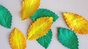 how to make realistic leaves from paper diy crafts tutorial