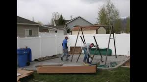 Home Depot Playset Installation Lifetime Swing Set Assembled In 5 Minutes Youtube