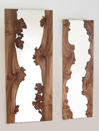 Wooden Bathroom Mirrors Creative Wooden Mirror Bathroom Mirror Pinterest Creative
