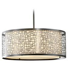 drum shaped pendant lights with modern light beige cream glass in