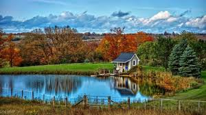 Small Lake House by Houses Fantastic Little Lake House Landscape Nature Autumn Clouds