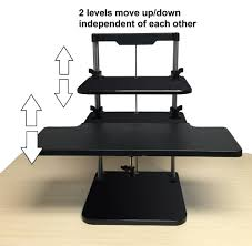Stand Up Sit Down Desks by Aliexpress Com Buy Sit Stand Desk Riser Three Level Height