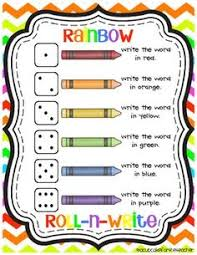 morning work buckets freebie roll and write sight words