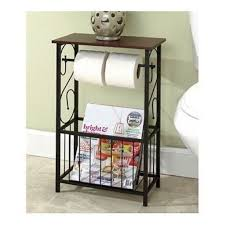 bathroom storage table toilet paper holder bath caddie magazine