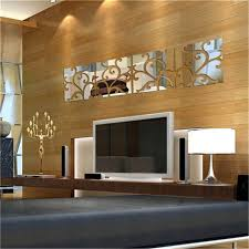 Mirrored Wall Panels Aliexpress Com Buy 20 80cm 3d Acrylic Mirror Decal Mural Wall