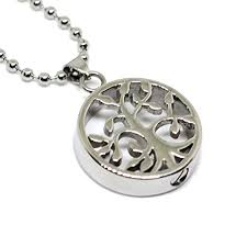 cremation jewelry for men tree of silver color cremation urn jewelry stainless