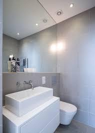 Mirrors For Bathroom Wall Wall Mirror In Bathroom Bathroom Contemporary With Grey Tiles