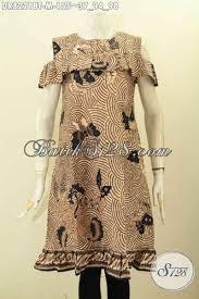 desain baju batik halus model baju batik elegan untuk kerja dan ke pesta dress batik halus