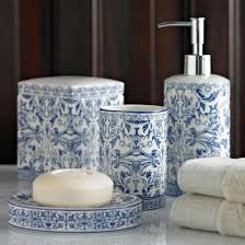 Blue And White Bathroom Accessories by Accessories Kassatex