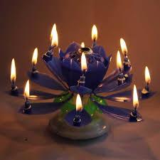 amazing happy birthday candle amazing musical lotus rotating happy birthday candle