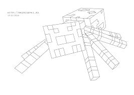 minecraft coloring pages spider mincraft gekimoe u2022 25514