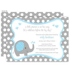 templates elephant baby shower invitations free template