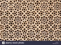marble stone carved jali agra uttar pradesh india asia stock