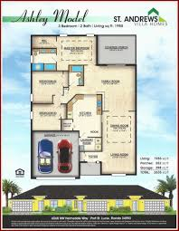 3 Bedroom House Floor Plans With Models Floor Plan Park Model Homes Plans Of New Construction In Port St