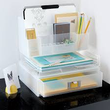Paper Desk Organizer Like It Large Desktop Station The Container Store