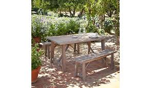 patio table and bench vintage 3 piece patio table and bench set home garden george
