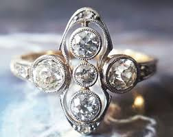 engage diamond ring vintage engagement rings etsy