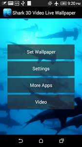 3d Vidio Shark 3d Video Live Wallpaper Android Apps On Google Play