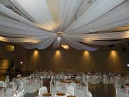Ceiling Drapes For Wedding Ceiling Draping Entrance Decor Noretas Decor Inc