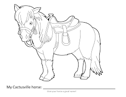 horse coloring page vbx 2017 cactusville pinterest