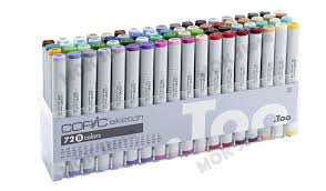 copic marker 72 piece sketch set b twin tipped artist markers