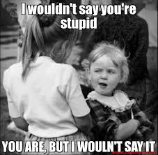 Dumb Girl Meme - i wouldn t say you re stupid you are but i wouln t say it