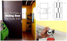how to draw a sliding door in a floor plan learn how to make a sliding door for your home for under 40