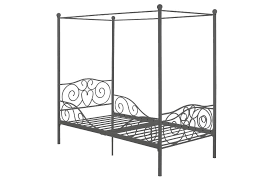 dorel home products canopy metal twin bed pewter toys
