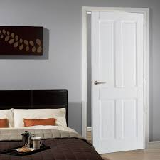 interior door styles for homes canterbury 4 panel dsn shaker style door is white primed 4 panel