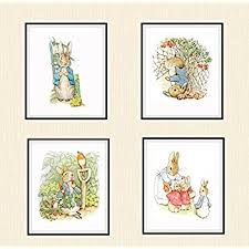 amazon beatrix potter mother rabbit peter vintage art