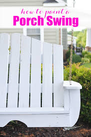 how to paint a porch swing