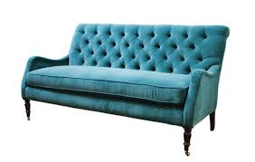 peacock blue velvet tufted sofa 495 available in the new york